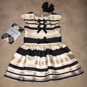 Halabaloo Other - Halabaloo Ivory & Black Stripe Organza Dress