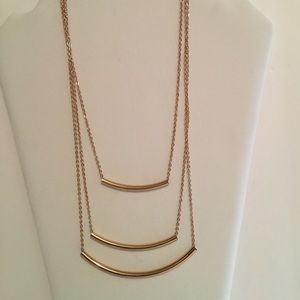💋💕Triple Gold Bar Necklace