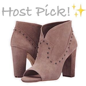Vince Camuto Shoes - ✨NIB✨ Vince Camuto Suede Studded Peep Toe Booties