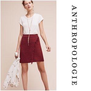 Anthropologie Fringed Arnhem Wrap Knit Skirt