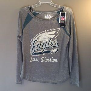 Woman's Touch Apparel Tops - 🆕 Philadelphia Eagles Gray Long Sleeve Shirt NWT