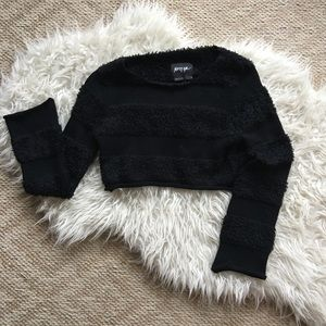 Nasty Gal Crop Top Sweater Small