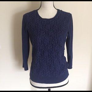 Ann Taylor Lace Sweater (M)