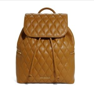 VERA BRADLEY LEATHER QUILTED AMY BACKPACK 