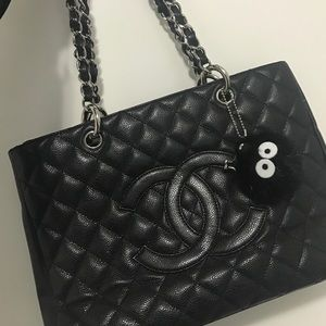 CHANEL Handbags - Authentic Chanel black caviar GST