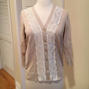 August Silk lace cardigan