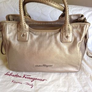 Salvatore Ferragamo Handbags - Salvatore Ferragamo Metallic Leather Bag