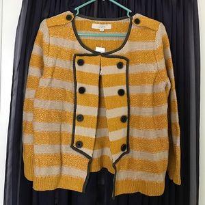 LOFT Sweaters - NWT Ann Taylor LOFT military sweater cardigan sz M
