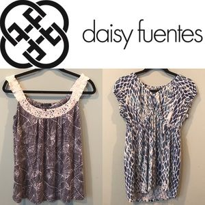 Daisy Fuentes Tops - TWO Medium Tops