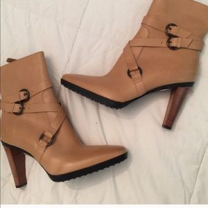 Tod's New in Box Camel Ankle Boots 10.5