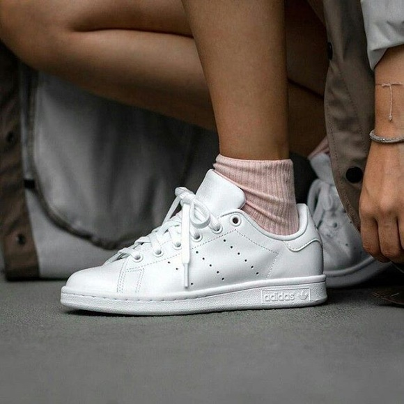 new concept 0a652 2779b Adidas Triple White Stan Smith Sneakers