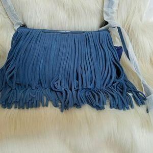 Rebecca Minkoff Handbags - Rebecca Miinkoff Convertible Cross Body Dusty Blue