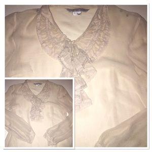 Ice Tops - ICE sheer cream blouse