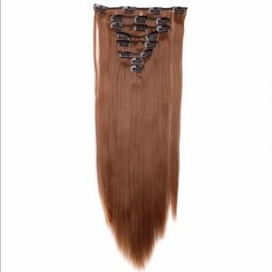 Accessories - Light brown clip in hair extensions