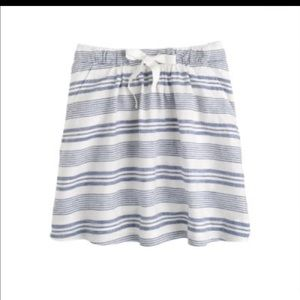 J. Crew Dresses & Skirts - J.crew NWT boardwalk linen striped skirt size 10