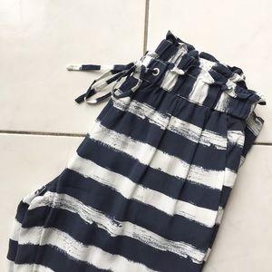 [AX] Silk Stripe Pants