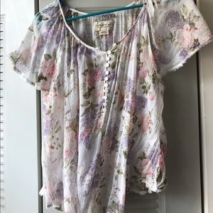Sheer floral top (Ralph Lauren)