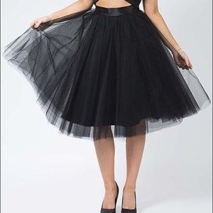 "Dresses & Skirts - Black Soft Midi Skirt 27"""