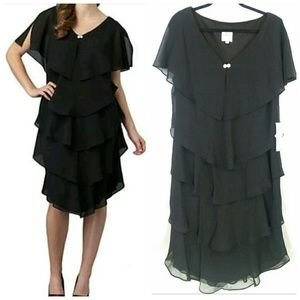 Patra Dresses & Skirts - Patra Woman Black Tiered Dress Plus Size 14W