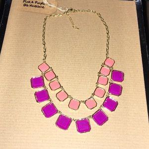 Pink & Purple Bib Necklace