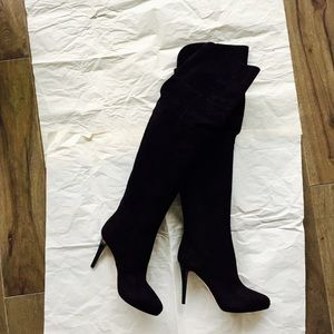 Jimmy Choo Shoes - Authentic Jimmy Choo Suede Over-the-knee Boots