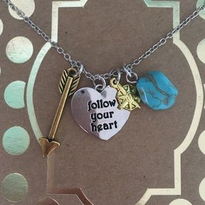 Follow Your Heart Charm Necklace