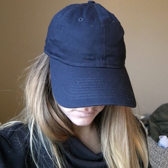 c7f7306d366 Plain navy blue hat one size fits most! Adjustable