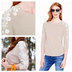 Jcrew Collection Flower Sleeve Sweater