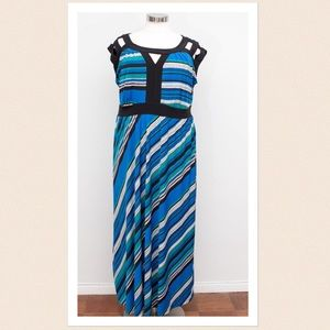Igigi Dresses & Skirts - Igigi Striped Multi-Color Maxi Dress - Size 22/24