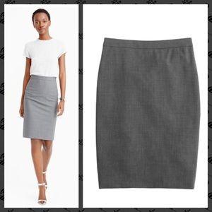 J. Crew Pencil Skirt in Italian Stretch Wool