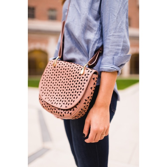 61e082ea33 Elizabeth and James Handbags - Elizabeth and James Zoe Perforated Saddle Bag