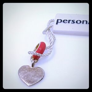 Persona Jewelry - Persona pink dangle heart charm/beads
