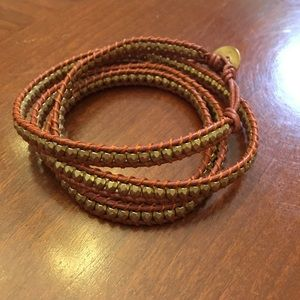 Leather wrap bracelet.