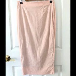 ASOS Pale Pink Midi Pencil Skirt Sz 6