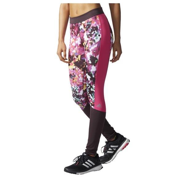 9a4f0996ada Adidas Pants | New Womens Techfit Floral Print Long Tights | Poshmark