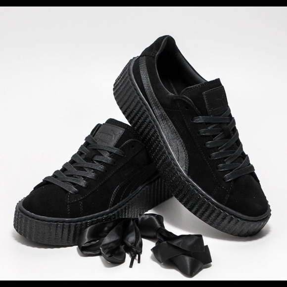 f7d010ded740 Rihanna Fenty Puma All Black Creepers. M 589a1b897f0a05b1d3010768