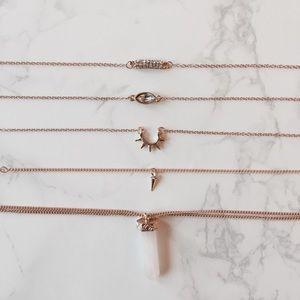 UO Gold Boho Bracelet Set