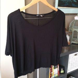 Simple Black Crop Top