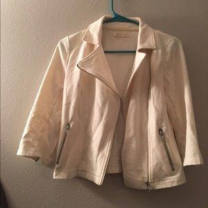 Side-Zippered White Jacket