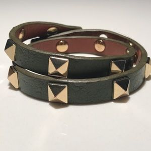 Stella & Dot double leather wrap bracelet