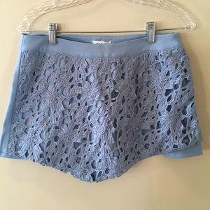 Tea n Cup Pants - Tea & Cup Crocheted Front Skort