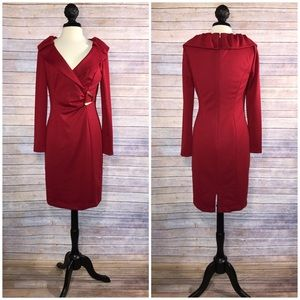 Kay Unger Dresses & Skirts - {Kay Unger} Red Sheath Dress, $328.00