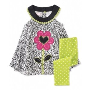 Kids Headquarters Other - Kids Headquarters Spring Green Black Set Outfit 12