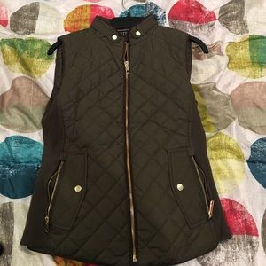 Jackets & Blazers - Olive Green Vest