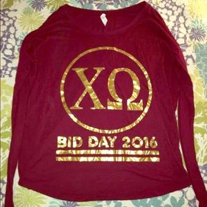 Bella Rene Tops - Chi Omega Long Sleeve Shirt 💛❤️