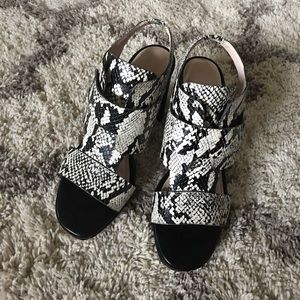 Like new French Connection snake print sandals