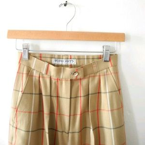 Vintage Burberry Trousers Wool Plaid Pants