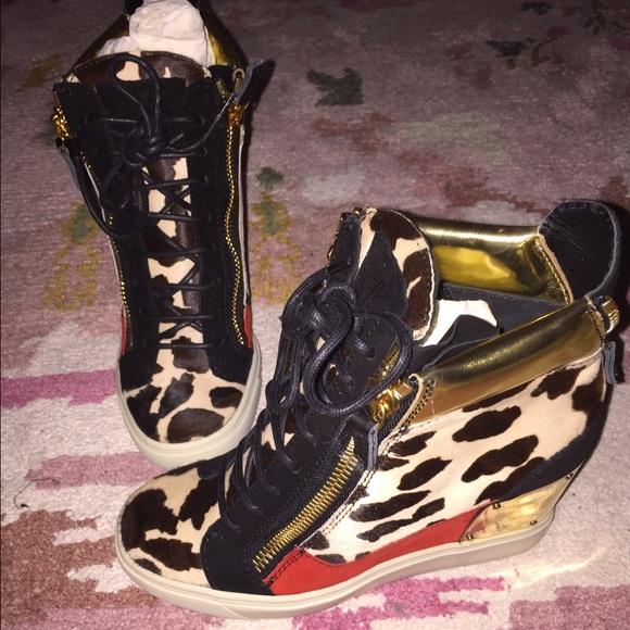 de2d9dd3159 Giuseppe Zanotti Shoes   Lorenz Animal Print Sneakers   Poshmark