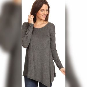 Tops - MEMORIAL DAY SALE🎉🇱🇷CHARCOAL ASYMETRICAL TUNIC