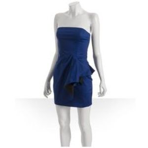 French Connection Dresses & Skirts - French connection peplum blue cocktail dress